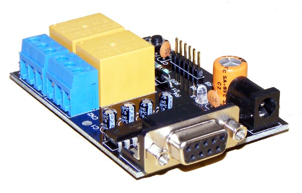 iRS-2R 2 channel RS232 based relay & daq card iknowvations