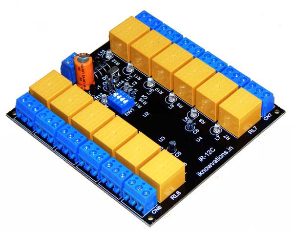 Infrared remote control relay board 12 channel - iknowvations.in