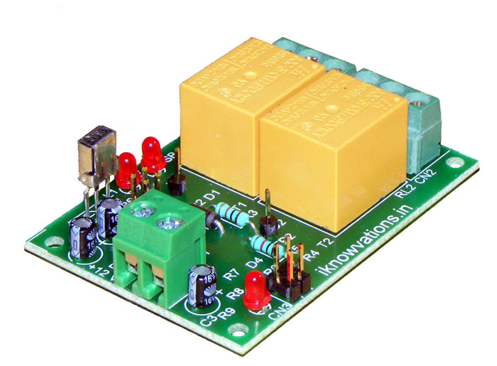 New 2 channel infrared IR remote control board iR-2R launched.