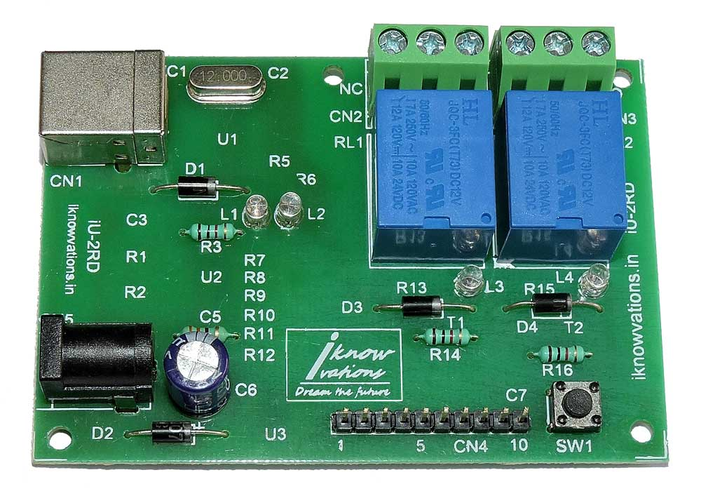 2 channel USB Relay & DAQ board iU-2RD launched.
