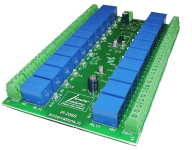 Serial controlled 20 channel Relay board