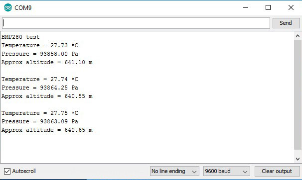 BMP-280-arduino-serial-monitor-iknowvations.in