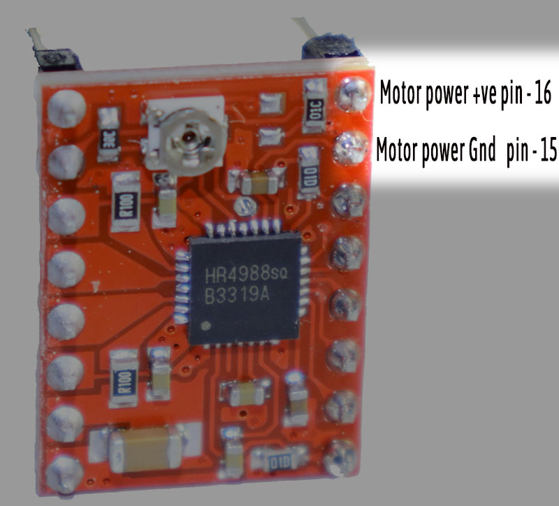A4899 Stepper motor driver motor power pins -iknowvations.in
