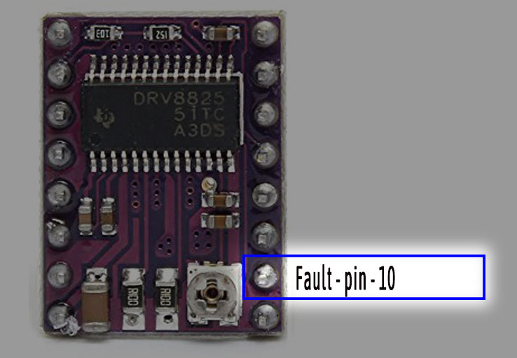 Fault pin of DRV8825 module - Iknowvations.in